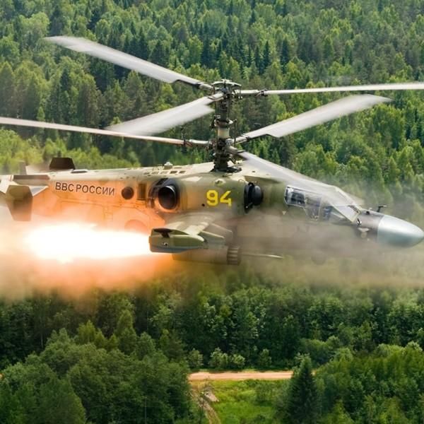 6а.Ка-52 ВВС России.Пуск НУРСов.