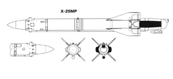 10.Проекции Х-25МР. Схема.