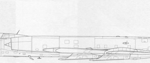 Серийный Ту-128УТ. Схема.