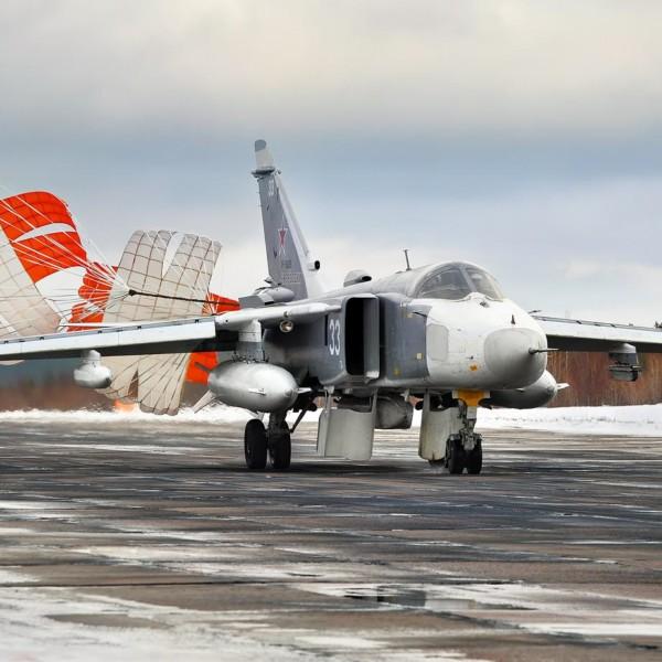 Су-24МР после посадки.