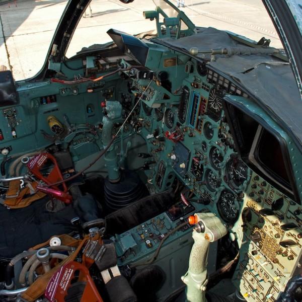 Кабина Су-24МР.