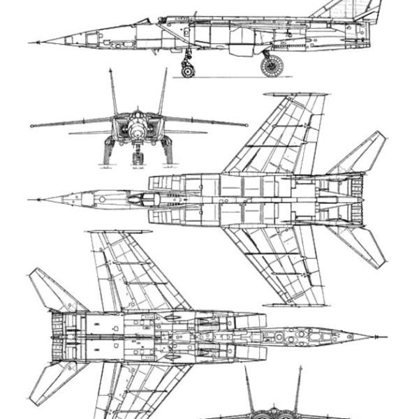 МиГ-25РБТ. Схема.
